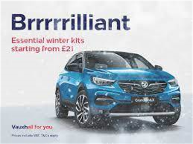 Winter-ready with Vauxhall accessories